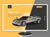 Website Header For car showcase