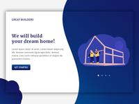 Greatbuilders-Landing Page UI Design