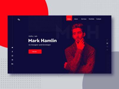 Personal Resume & Portfolio Design l Header Part