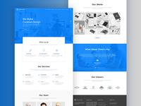 Graphico It Service Landing Page Design