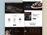 Coffee Shop Landing Page UI Concept