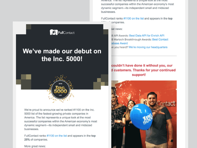 Inc. 5000 Email Template
