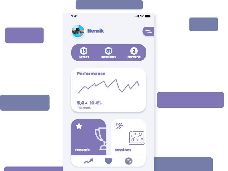 Sport Performance App ui concept ios uidesign adobexd mobileapp app uiux userexperiencedesign userexperiance userinterfacedesign userinterface design illustration ux ui