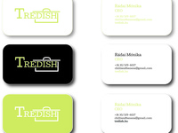 TreDISH business cards