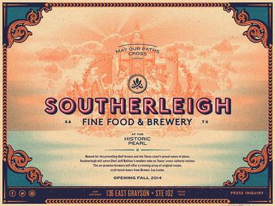 Southerleigh   Temp Web san antonio texas brewery restaurant web typography