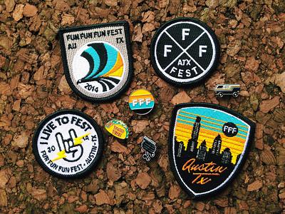 FFF9 Patches & Pins fun fun fun fest merch patch pin guerilla suit austin texas