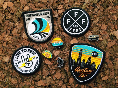 FFF9 Patches & Pins fun fun fun fest merch patch pin guerilla suit austin texas