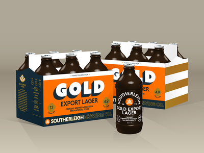 Gold Export Lager   Southerleigh Brewing Company texas san antonio packaging beer