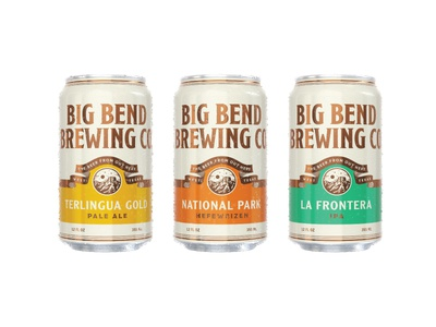 Big Bend Brewing Co. Packaging west texas packaging cans beer