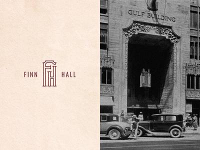 Finn Hall   Mark texas houston food mark monogram branding