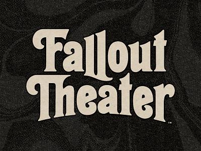 Fallout Theater texas austin theater comedy wordmark type branding