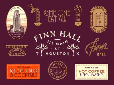 Finn Hall | Identity system texas houston food identity branding