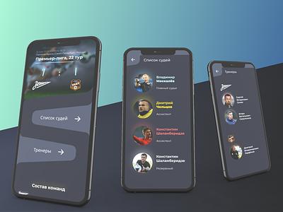 Football match statistics / mobile web website minimal flat web ux design ui