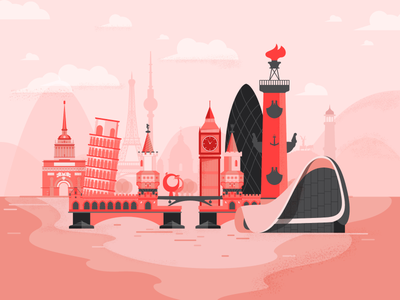architecture bridge pisa baku saint petersburg illustrator city vector architecture