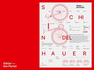 Viktor swiss swissdesign bike wannabelike poster graphic design illustration