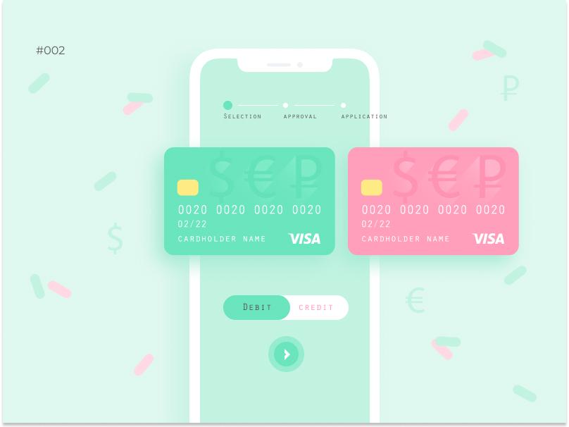 002 card app daily002 dailyui 002 ui design