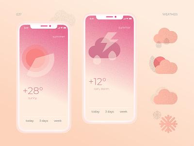 037 summer sunny web vector concept icons icon ui weather 037 dailyui app design
