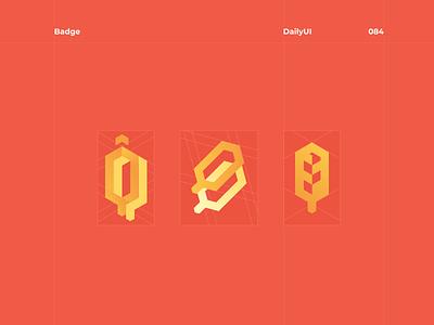 084 logotype vector logo illustration design concept dailyui badge
