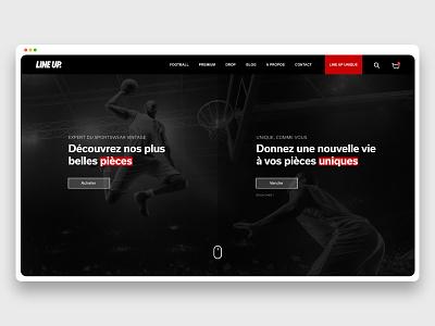 Line Up - Desktop homepage adobexd webdesign desktop uxdesign uidesign