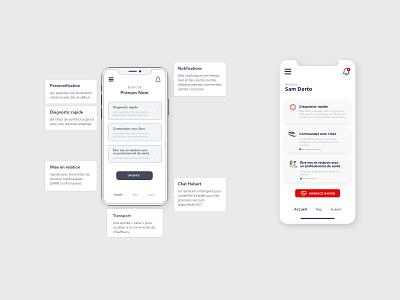 Uber Rescue - Features design adobexd uber features interface app design uidesign uxdesign