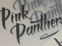 Pink Panthers - logo process