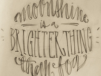 Lettering // Moonshine sketch