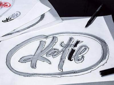 Katie | Sketch logo sketch logotype work in progress brand type lettering fuentoovehuna