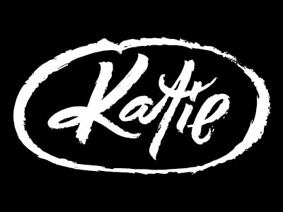 Katie logotype fuentoovehuna logo brand lettering type script