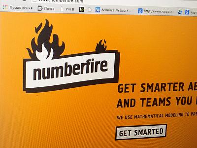 Numberfire™  logotype identity logo fire type brand fuentoovehuna branding