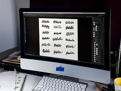 Herbolia / Behance project WIP type lettering logo logos work in progress