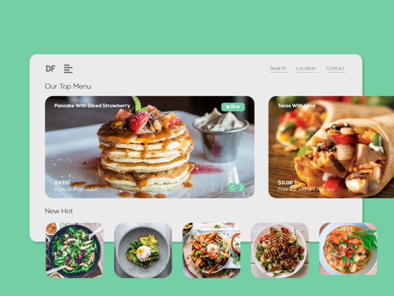 Restaurant UI restaurant food colorful web design ui  ux
