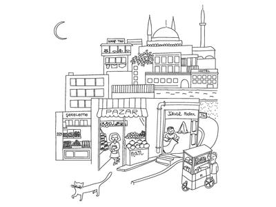 A Cat in Istanbul (B&W)