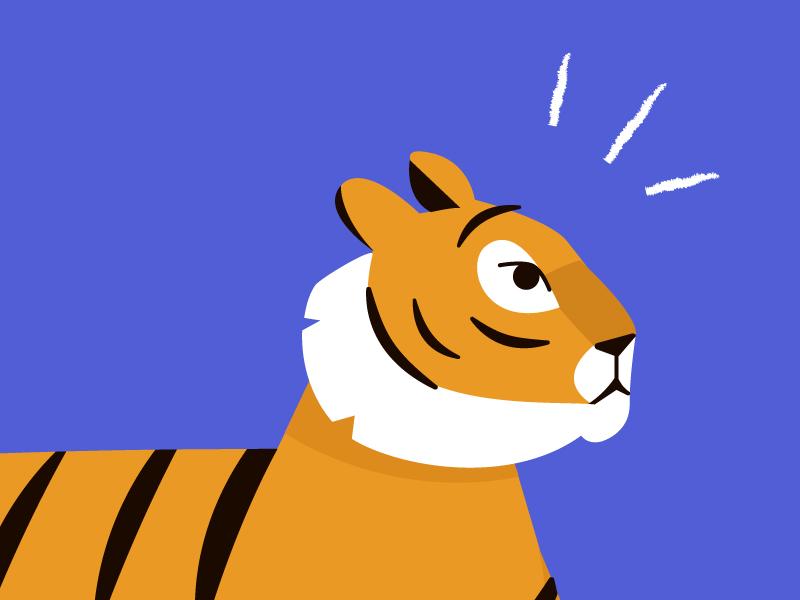 Sneak Peak of something new workplace bright jungle tiger
