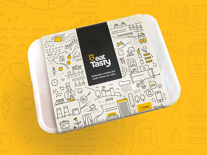 New Packaging for EatTasty lisbon cooks love drivers eat ready deliver food eattasty