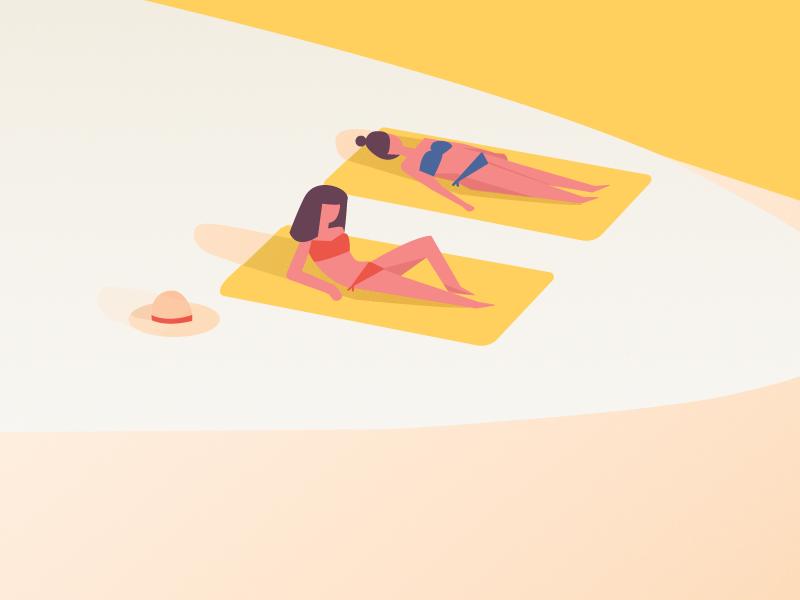 Beach Babes towels hot hat summer sun beach