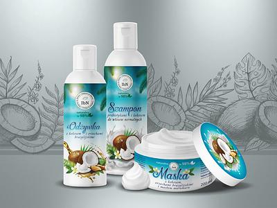 cosmetics coconut кокос косметика kosmetyki maska odżywka szampon reklama natural coco kokos cosmetic fashion beauti makeup conditioner mask shampoo coconuts coconut cosmetics