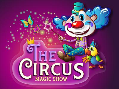 Cirkus magic show magic card circus vector illustration design cartoon