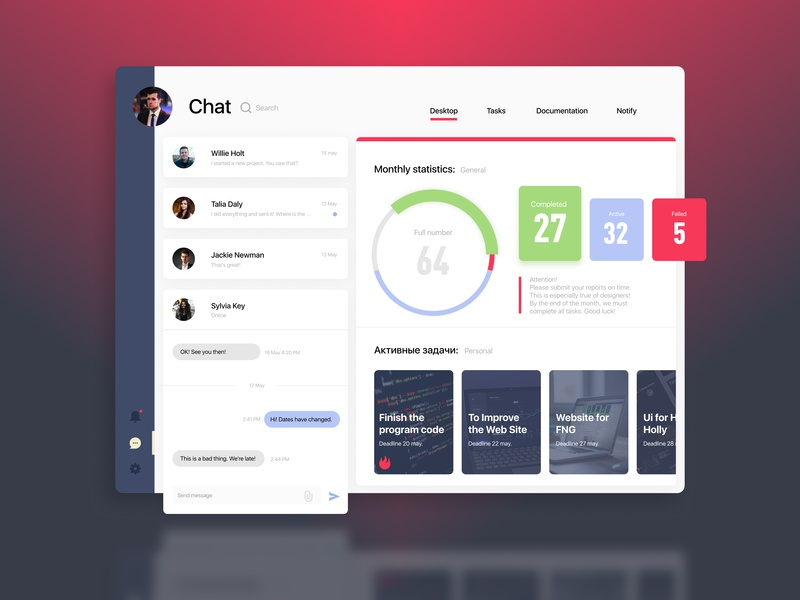 CRM system by Di_krey on Dribbble