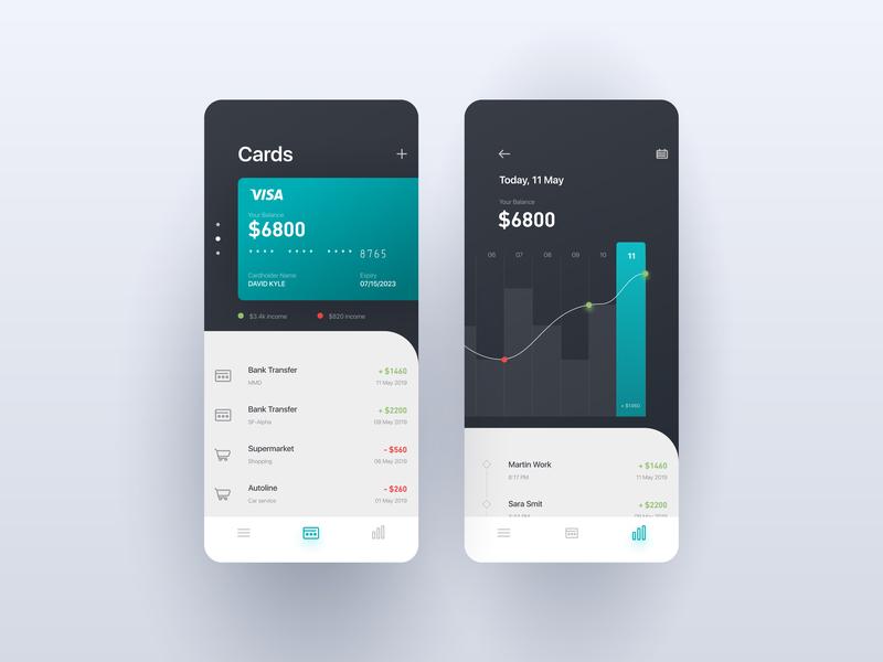 Banking App bank banking app figma mobile app website web ux minimal illustrator ui vector illustration design