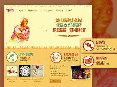 Old Projects #2 - Kristian Bediiako website web design responsive music