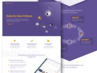 Influencer marketing landing page