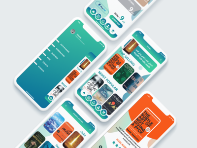 books store app design