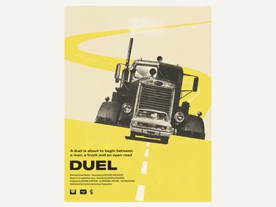 Steven Spielberg's Duel poster