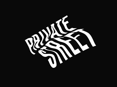 Private Street Logo mark logo typography vector design branding