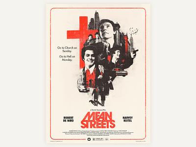 Poster Mean Streets design illustration poster poster art