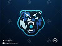 Bear Logo Esport Mascot Team Game