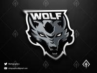 Wolf Mascot Logo Esport Team