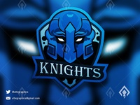Knights Mascot  Esport Logo