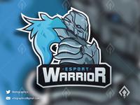 Warrior Mascot Esport Logo