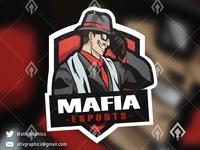 Mafia Mascot Esport Game Logo